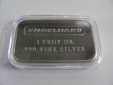 ENGELHARD 1 OZ .999+ FINE SILVER BAR NO Serial Number SMOOTH BACK EX Condition