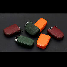Leather Smart Key Holder Cover 4button Case For Hyundai Elantra AD 2017+