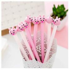 6Pcs Lovely Cute Cartoon animal Piggy Pig Gel ink Pens Office School Stationery
