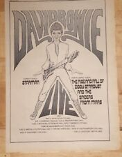 David Bowie Ziggy Stardust Tour concert 1972 advert Full page 26 x 38 cm poster