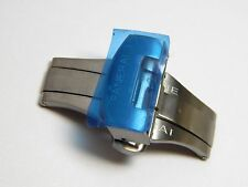 Stainless Steel Replacement PANERAI Fold Over Watch Clasp w/ Push Button   22mm