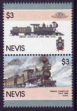 NEVIS LOCO 100 D & RGR CLASS C16 LOCOMOTIVE US STAMPS MNH