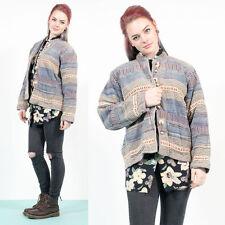 Para mujer Vintage Boho Batik Festival Tapiz estilo chaqueta chaqueta tamaño 14
