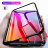 For Samsung Galaxy S8 S9 Plus Magnetic Adsorption Tempered Glass Case Cover 6H