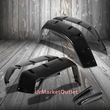 Black ABS Pocket-Riveted Style Wheel Fender Flares For 97-06 Jeep Wrangler TJ