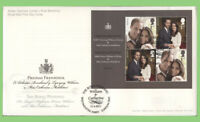 G.B. 2011 Royal Wedding mini sheet on u/a Royal Mail First Day Cover, London SW1