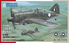 SPECIAL HOBBY 1/72 MODEL KIT 72128 Brewster BUFFALO modello 339-23 RAAF e USAAF