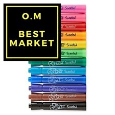 Mr. Sketch Scented Markers, Chisel Tip, Assorted Colors, 12-Count, School Kids