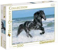 Clem-30175 Clementoni Puzzle 500 Black Horse