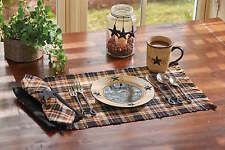 Placemat - Dalton by Park Designs - Kitchen Dining Black Brown Tan
