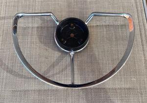 MG 1961-69 MAGNETTE MARK 4 GENUINE CHROME STEERING WHEEL HORN BAR!! EC!!