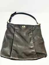 Coach Madison Isabelle Leather Hobo Purse Handbag Mahogany Brown/Gold EUC 21224