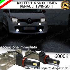 COPPIA LAMPADE H16 LED CANBUS FENDINEBBIA RENAULT TWINGO III 6400L 6000K