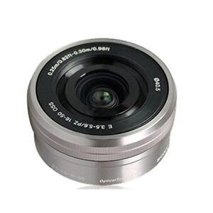 Sony E 16-50mm f/3.5-5.6 OSS PZ (SEL-1650) Lens Silver White SELP1650*au