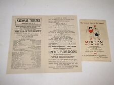 1924 National Theatre Program and Flyer Merton of the Movies Play w/ Movie