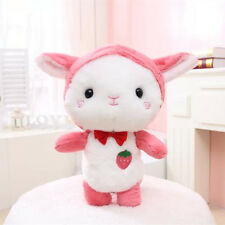 35CM Lovely Cuddly Soft Pink Sheep Toys Stuffed Plush Strawberry Doll Kids Gifts