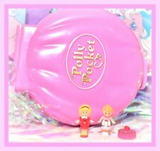❤️Polly Pocket VTG 1989 Polly's Cafe Pink Clamshell Compact 2 Bluebird Dolls❤️