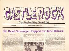 CASTLE ROCK April 1988 - THE STEPHEN KING NEWSLETTER - the CARRIE musical