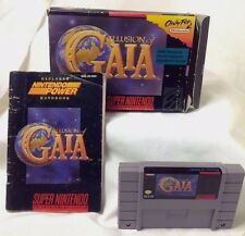 ILLUSION OF GAIA Super Nintendo Entertainment System SNES - COMPLETE