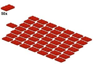 Used LEGO® - Plates - Red - 3021-01 - 2x3 (50Stk) - Platte - Rot