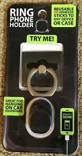 3M Ring Phone Holder With Adhesive Car Dashboard Mount Stand Black 360