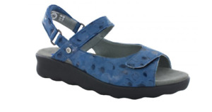Wolky Pichu Circles Blue Comfort Ankle Strap Sandal Women's sizes 36-42/5-11NEW