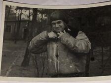 VINTAGE WWII Original Luftwaffe Photo Agfa Brovira Pilot WHITE CHANNEL Jacket