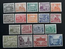 VERY RARE 1949- Berlin (West) lot of 18 City Views stamps Mint