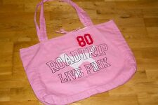 Vintage Victoria Secret Road Trip Live Pink-Pink Tote w/ Dog & Polka Dot Inside