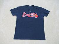 Majestic Atlanta Braves Shirt Adult Large Blue Baseball Freddie Freeman Mens *