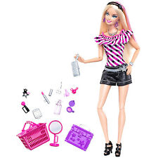2009 BARBIE FASHIONISTAS SHOPPING SPREE DOLL Sassy Shops For Makeup #T5500 ~NEW