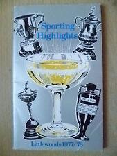 Sporting Highlights Littlewoods 1977/78 (Pocket Book)
