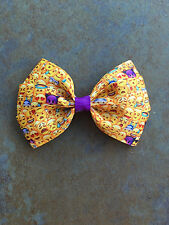 Emoji Hair Bow with Alligator Clips Purple