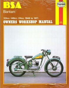 1948-1971 BSA Bantam 123cc-148cc-174cc Haynes Owners Workshop Repair Manual 1175