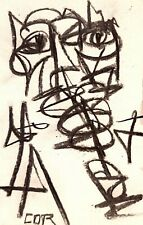 ABSTRACT EXPRESSIONIST ART ORIGINAL DRAWING PAPER GALLERY SKETCH CHARCOAL DECOR