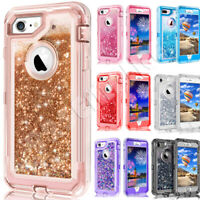 Glitter Liquid Shockproof Case Cover For iPhone 6/7/8 Plus