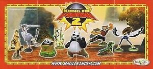 Characters Kung Fu Panda 2 of Your Choice (DC183 - NV144) Kinder Joy Germany