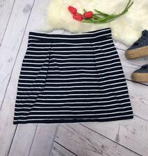 Tommy Hilfiger Women's Skirt Size M Striped Navy White Nautical Skirt Cotton