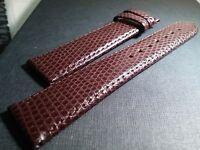 Longines 18/16mm Brown Genuine lizard Leather, for watch repair