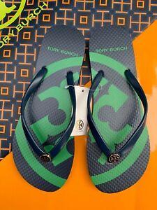 NWT Tory Burch PVC Flip Flop Flops Emory Thong Flat Sandals Rare MANY SIZES