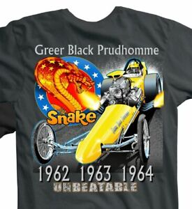 NEW! DON PRUDHOMME Snake & Mongoose Red Line Club Greer Black Dragster XL TShirt