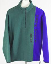 Vintage 90s Eddie Bauer EBTEK Colorblock Fleece Pullover Spellout Size Small S/P