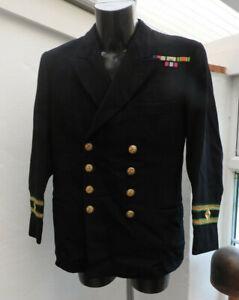 Military WW2 Royal Navy Merchant Tunic Officers Uniform Naval Air Crew (5479)
