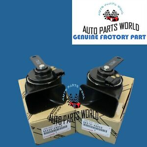 GENUINE OEM TOYOTA AVALON CAMRY VENZA LEXUS ES RX HIGH & LOW PITCHED HORNS SET