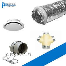 Three Room Heat Transfer Duct Fan - 200 mm Inline Fan Kit