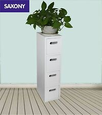Bathroom 4 Drawer Cabinet Storage Unit Fully Assembled White Cupboard -270217