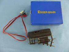 EGGER-BAHN aiguillage droit électrique ref 3601 + boite état neuf échelle HOe