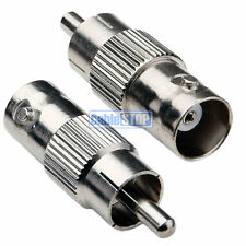 2 x BNC Female to RCA PHONO Male Plug Connector CCTV Camera Cable VIDEO ADAPTER
