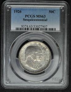 1926 Sesquicentennial Commemorative Silver Half Dollar - PCGS MS63