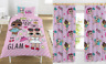 """LOL SURPRISE SINGLE BED & 66"""" X 54"""" CURTAINS SET GLAM DOLLS PINK REVERSIBLE GIRL"""